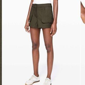 Lululemon This Instant Short Olive Green Short